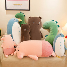 купить Cute Cartoon Bear Penguin Plush Toys Stuffed Animal Pig Dinosaur Doll Toy Plush Pillow Sleeping Doll Children Toys по цене 1111.14 рублей