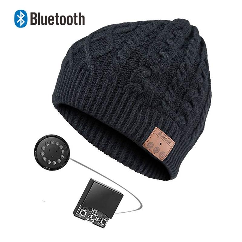 Bluetooth Beanie Music Hat Cap with Wireless Bluetooth Headphone Headset Earphone Music Hands-free Phone Call for Winter Sports epgate d00280 hands free bluetooth v4 0 music earphone orange