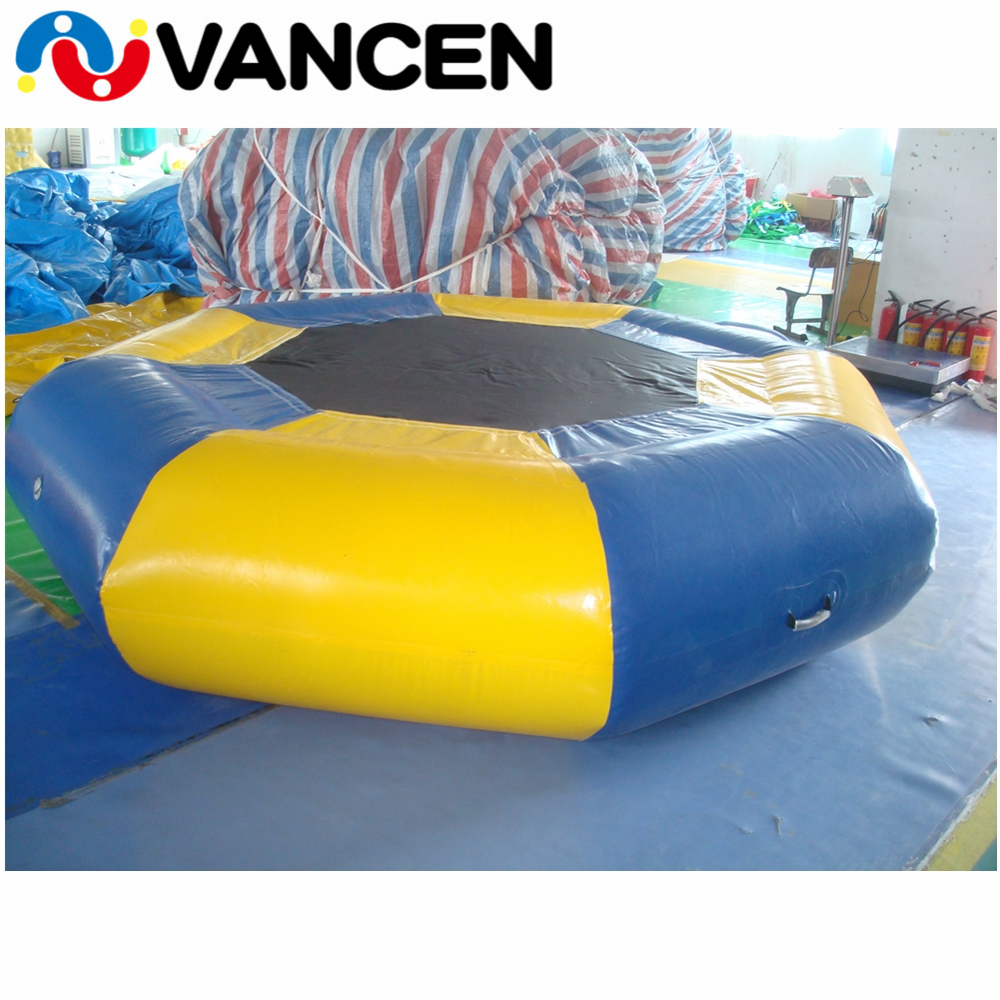 Free air pump 6m large inflatable water jumping trampoline wholesale price air trampoline human inflatable jumping bed