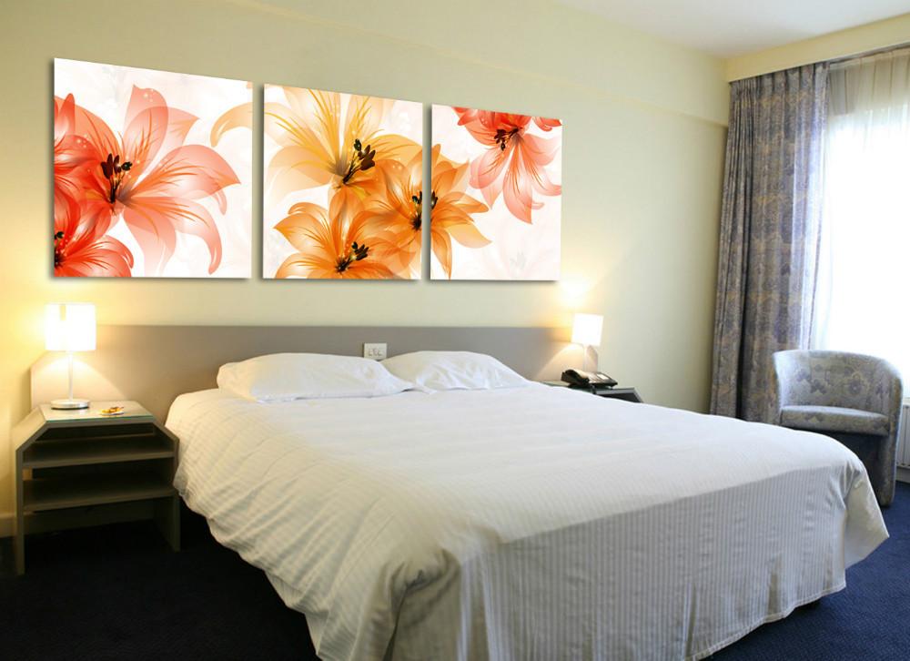 envo gratis unidades de arte establece flor pinturas dormitorio cabecera moderna decoracin de la pared