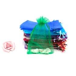 50 шт. классические роскошные украшения сумок из Органзы Рождество Свадьба вуаль веревка для подарочного пакета Jewelry Упаковка Подарочная