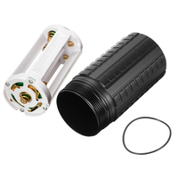 Jiguoor 100mm L 52mm Dia Fenix Extension Tube Runtime Kit For Fenix TK75 TK76 TK61 LED