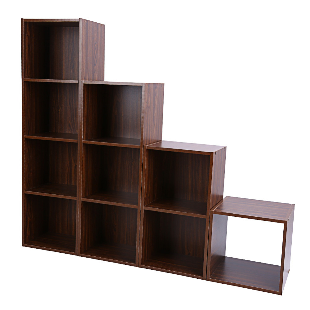 1/2/3/4 Tiers Wooden Bookcase Shelf Standing Book Shelves Storage Multi  Function Wood Cabinets Display Rack In Bookcases From Furniture On  Aliexpress.com ...