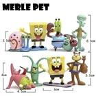 MERLE PET Spongebob Squarepants 8 Characters Doll Landscaping Squidward Tentacles Patrick Fish Tank Aquarium Decoration G07002