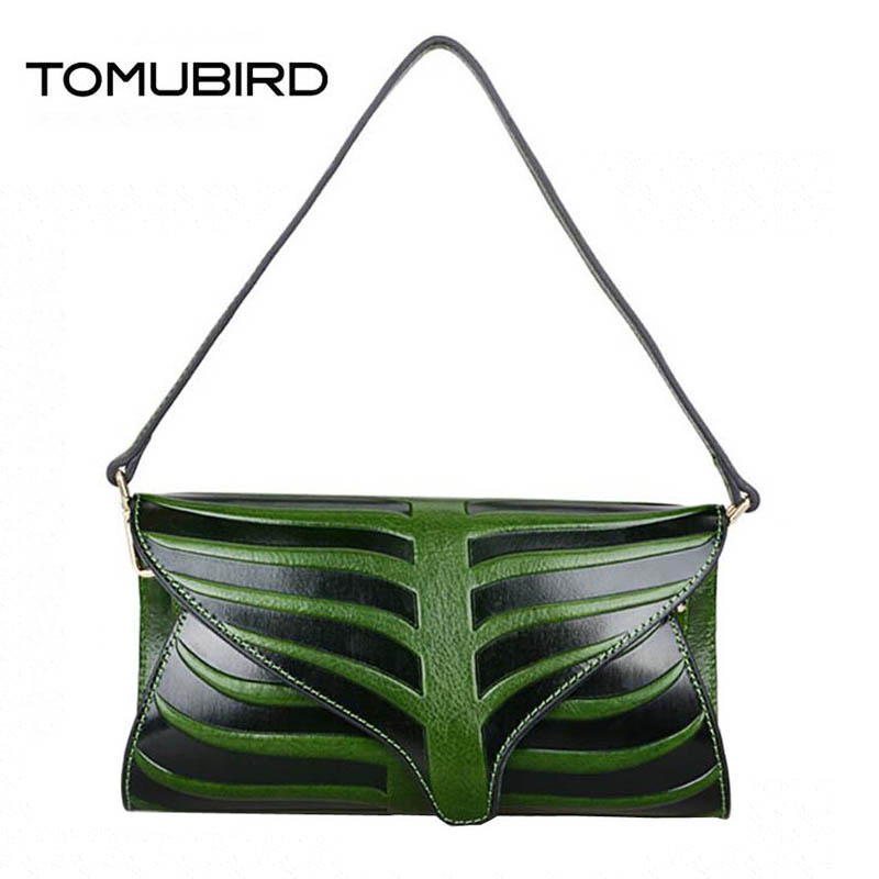 2017 New women genuine leather bag famous brands quality cowhide embossed women leather clutch bag shoulder messenger bag twist bow belt embellished slim fit top