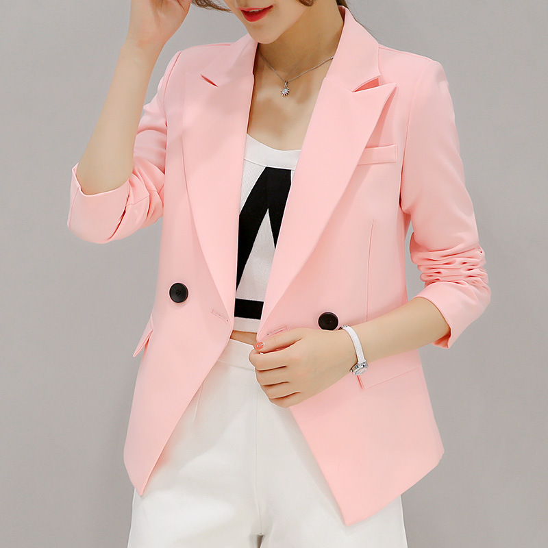 Vadim Top Fashion Real 2018 New Fashion Slim Casual Suit Color for Women Coats Jacket Blazers Spring Autumn Loose Coat Blazer