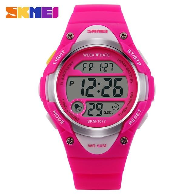 SKMEI Children Sports Watches Student Alarm Digital Watch Back Light Stopwatch 5