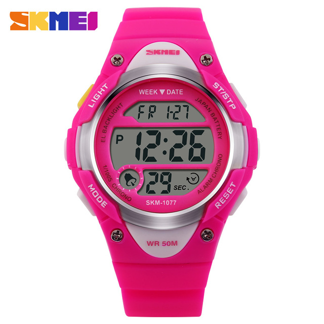 1c8d54c7aff0 Skmei niños Relojes deportivos estudiante reloj despertador digital back  Light cronómetro 50 m impermeable Niños y