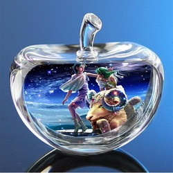 XINTOU 12 Constellations Statuettes Crystal Glass Apple Figurines Miniature Angel figurine Ornaments Home Decoration accessories