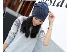 10 pieces/lot Fashion Winter Hats Spring Autumn Cap Striped Headwear Warm Casual Knitted Men Women Hat