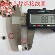 Icコイル溶接ラベルcuidチップリライタブルrfid高周波13.56mhzサイズ直径9ミリメートルcobとアンテナ10ピース/ロット