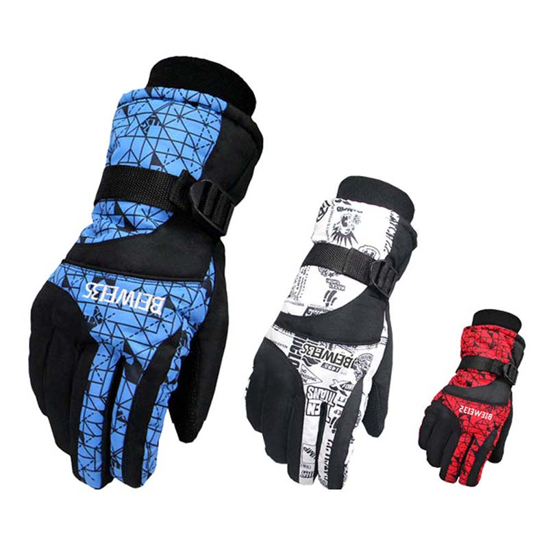 Outdoor Cycling Skiing Gloves Snowmobile Waterproof Glove Wear Resistant Riding Ski Gloves Snow Motorcycle Windproof Gloves