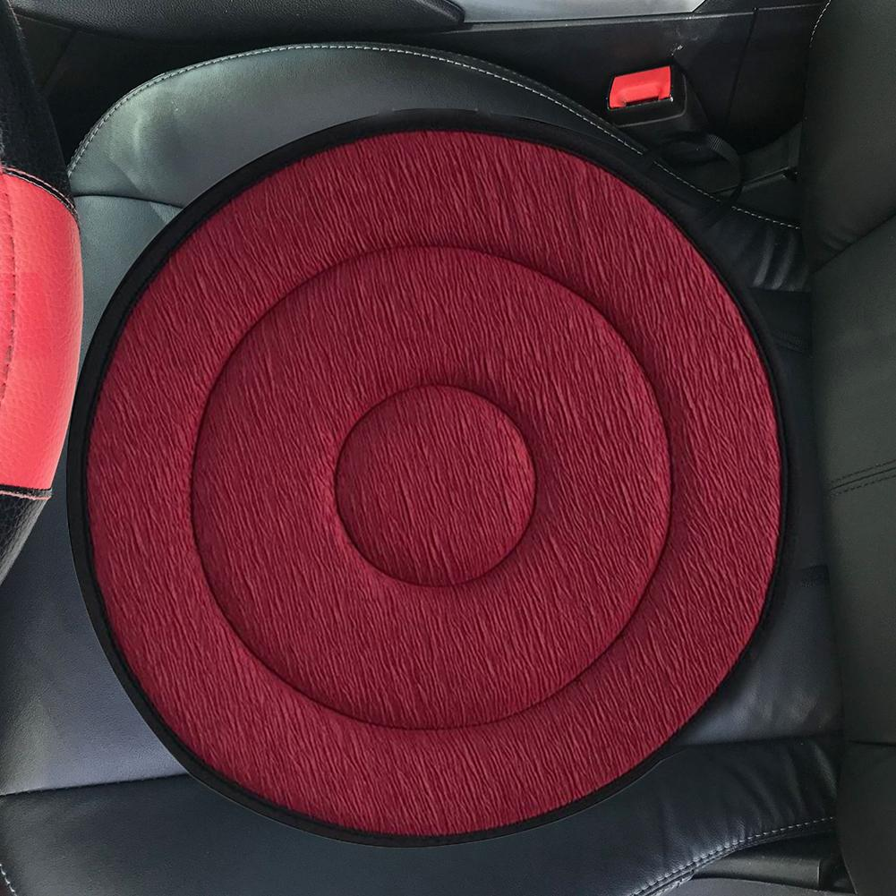 Cushion Coffee Car Seat Foam Mobility Aid Chair Seat Revolving Rotating Cushion Swivel Car Memory Foam Seat Mat Drop Shipping #