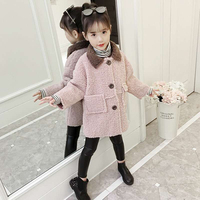 Autumn Winter Baby Girl Clothing Casual Mid Length Jackets Outerwear For 3 4 5 6 7 9 10 12 Years Children Coats Girls Clothes