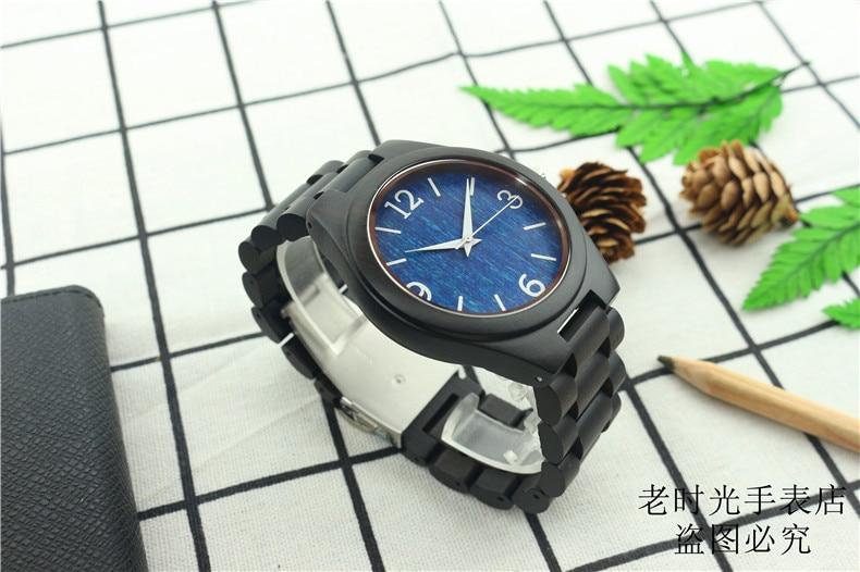 Madeira De Madeira Relógios para Homens Cinta