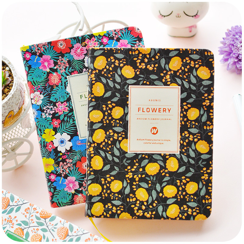 K&KBOOK Korean Vintage PU Leather Notebook A5 A6 Sakura Flower Schedule Notebook Diary Weekly Monthly Planner Agenda Organizer creative art fashion a6 journal planner book weekly monthly daily page blank paper pu leather diary notebook gift free shipping