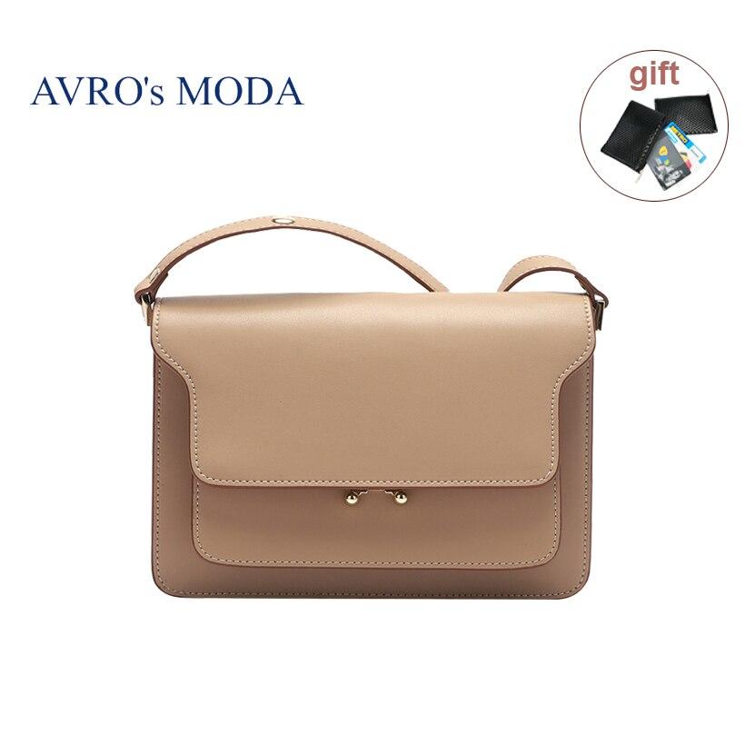 AVRO s MODA Brand luxury handbags women bags designer genuine leather shoulder messenger bags female large