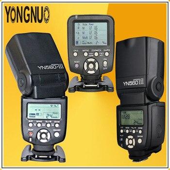 YONGNUO 2*YN560III YN560-III Wireless Speedlite Flash + YN-560TX LCD Flash Controller YN560 TX Kit For Canon Nikon DSLR Cameras