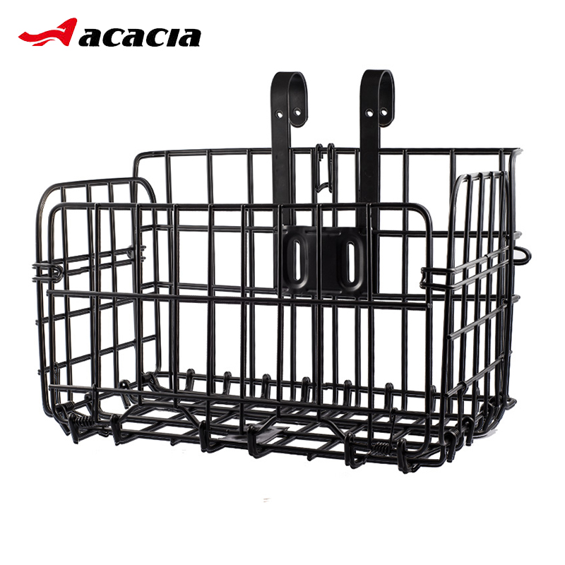 Folding Metal Wire Bicycle Front Handlebar Storage Basket Bike Cargo Rack Cycling Mountain Road Bike MTB Accessories led drl day lights for mitsubishi asx 2013 2014 2015 daytime running light driving fog run lamp with yellow turn signal