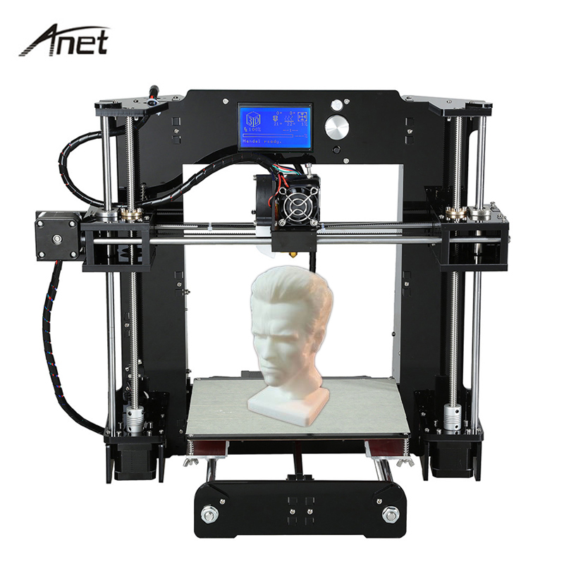 Anet Upgrade Desktop 3D Printer Big Size High Precision Reprap Prusa i3 3D Printer Kit DIY FDM Printing With Filament 8GB Card anet a8 a6 3d printer high precision three dimension printing lcd screen reprap prusa i3 diy 3d printer kit filament 8g sd card