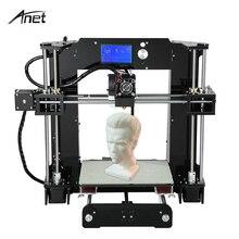 Anet Upgrade Desktop 3D Printer Big Size High Precision Reprap Prusa i3 3D Printer Kit DIY FDM Printing With Filament 8GB Card