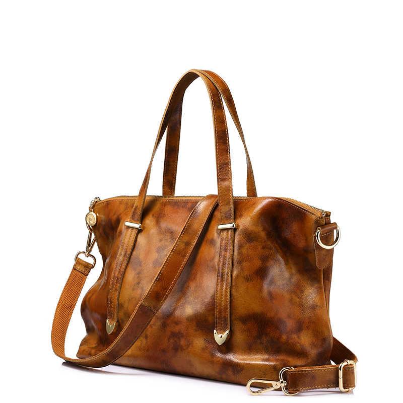 REALER сумка из натуральной кожи для женщин, сумка-тоут, модная женская сумка, женские большие сумки через плечо, высокое качество, одноцветная сумка