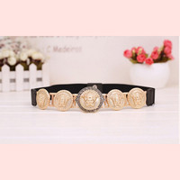 New Brand Belts For Women New Fashion Beauty Head Elastic Belt Vintage Lady Elastic Designer Waistband