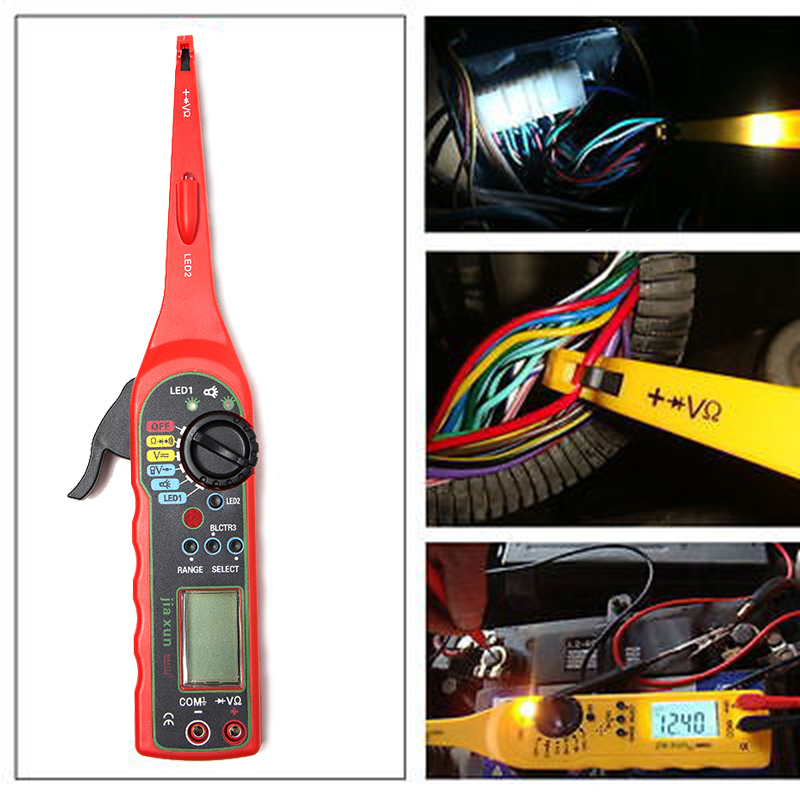 KWOKKER NEW Multi-function Auto Circuit Tester Multimeter Lamp Car Repair Automotive Electrical Multimeter Diagnostic Tool