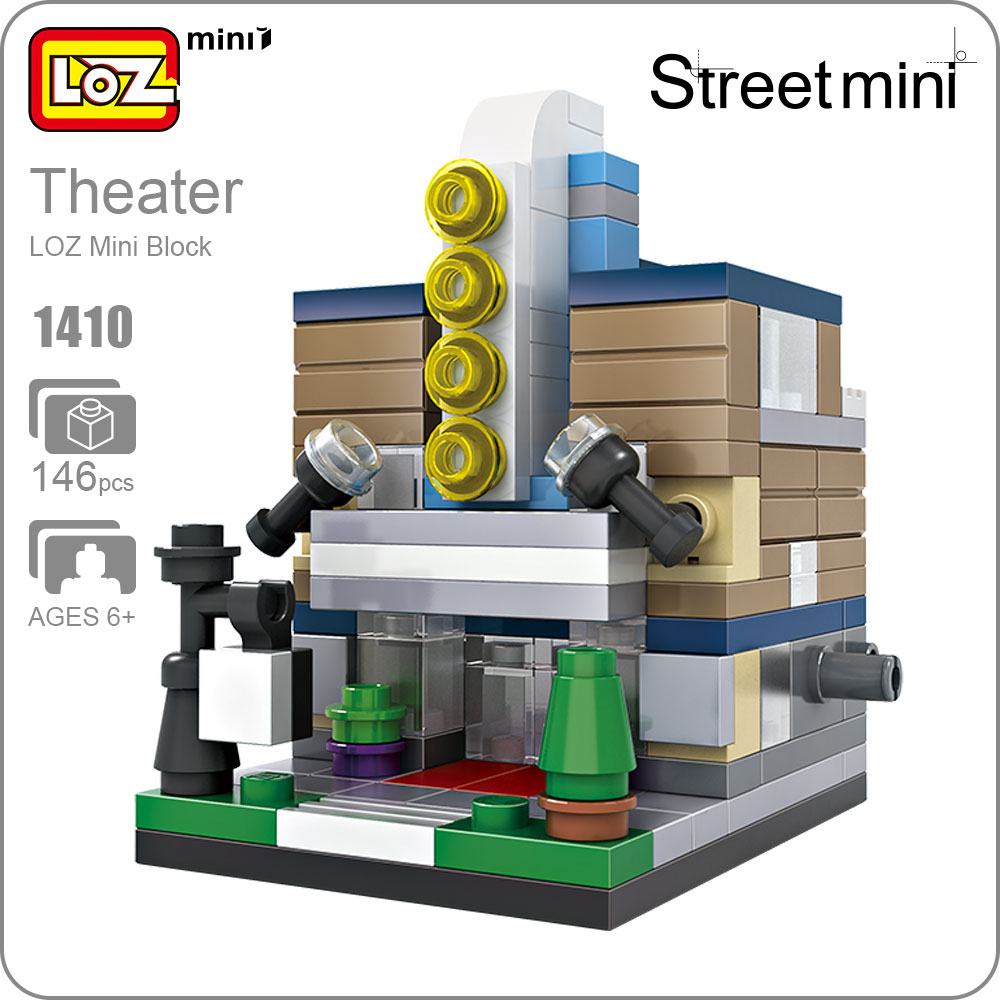 LOZ Mini Block Architecture Theater Stage Street View Model Building Blocks Toys DIY Gift Birck Store Toy Models Set Figure 1410 loz mini diamond building block world famous architecture nanoblock easter island moai portrait stone model educational toys