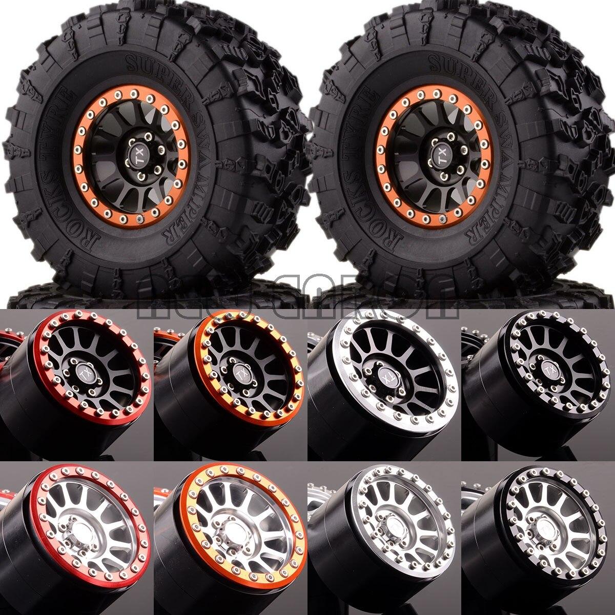 NEW ENRON 4P Aluminum 2.2 Beadlock Wheels & Tires 2022-3022 FOR Crawler Axial Traxxas HPI new enron 1 10 set aluminum 2 2 beadlock wheels