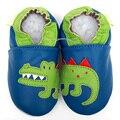 Кожаные ботинки младенца крокодил детские мокасины животных дети малыша мальчик детская обувь девушки милый ребенок тапочки с антискользящим покрытием мягкой