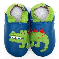 جلد الطفل الأحذية التمساح الطفل الأخفاف الحيوان الاطفال حذاء طفل صغير الصبي الرضع أحذية الفتيات لطيف الطفل النعال مكافحة زلة لينة