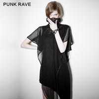Punk Rave PUNK נשים רגיל אסימטריה vestido שמלות נשים מודאלי קיץ שמלות Midi אורך PQ-102