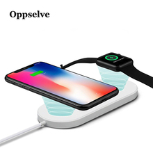 Oppselve 2 in 1 Qi Wireless Charger For iPhone Xr X XS Max Apple Watch 3 Charging Pad Samsung S8 S9 Plus