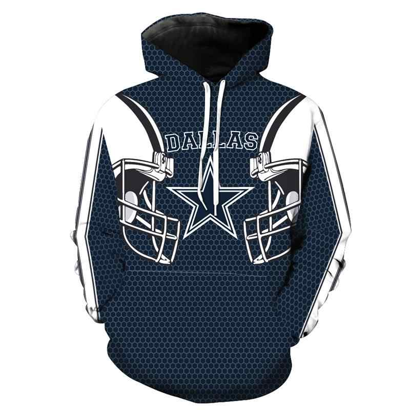5d4bc9be345 New Dallas-Cowboys Printed 3D Hoodies Men Women Sweatshirts Long Sleeve  Anime Pullover Hooded Autumn