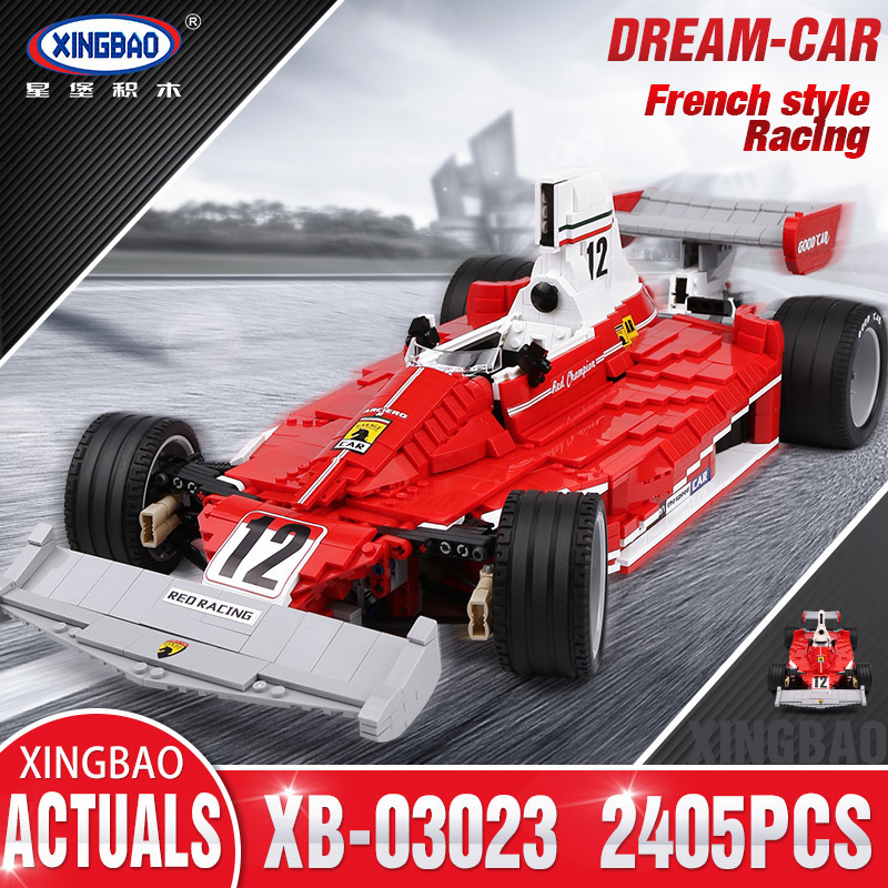 Xingbao 03023 The Red Power Racing Car Set Competible With LP Technic Building Blocks Bricks Toys As Christmas Kids GiftXingbao 03023 The Red Power Racing Car Set Competible With LP Technic Building Blocks Bricks Toys As Christmas Kids Gift