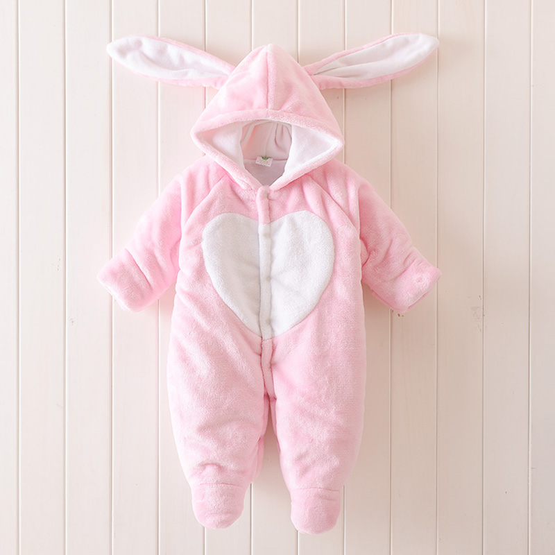 Super Warm Baby Clothes Boys Girls Animal Hooded Romper Newborn Baby Girl Winter Jumpsuit Thick windproof Coverall Baby Clothing infant animal romper baby boys girls jumpsuit newborn clothing hooded toddler baby clothes cute romper baby costume fz044 16