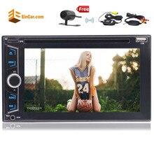 Eincar 2 DIN 6.2 »стерео GPS Навигация Авто HD Радио DVD/CD-плееры Bluetooth USB/SD/ AUX Порты и разъёмы вызов и Беспроводной сзади Камера
