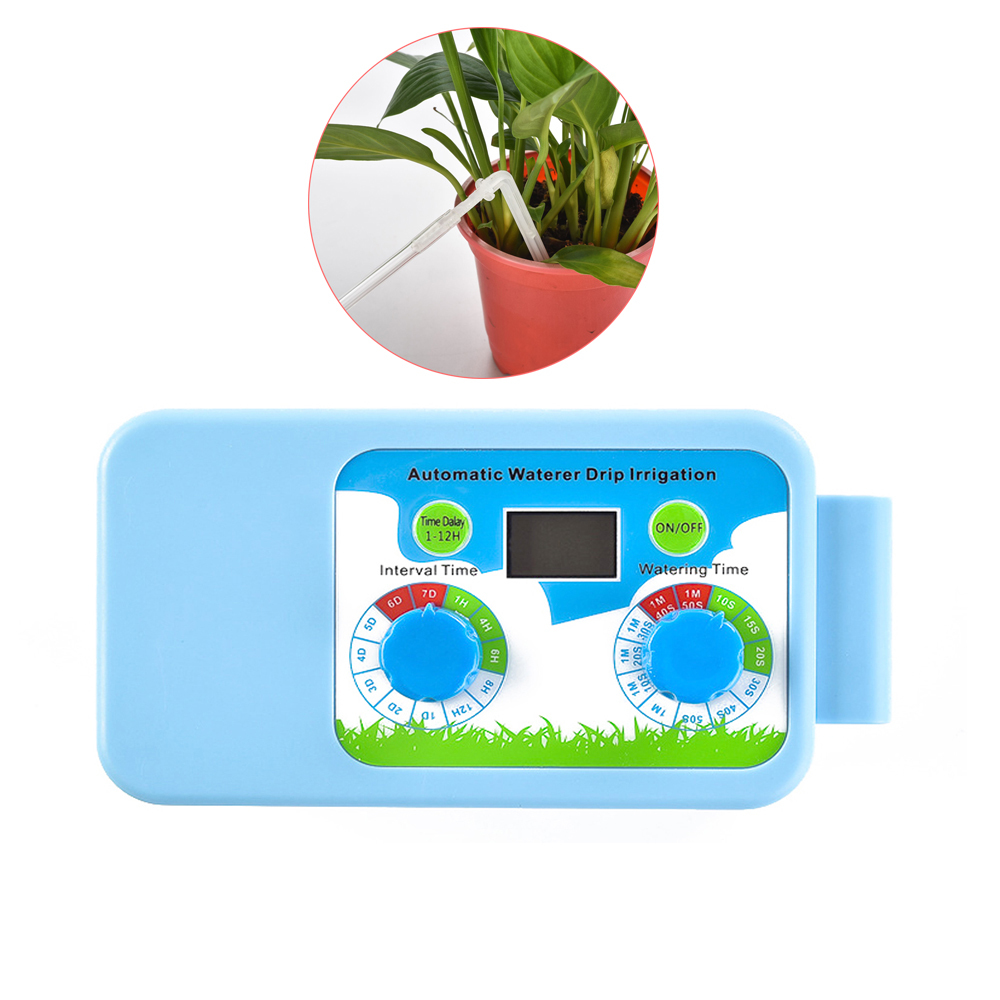 Digital Water Timer Garden Watering System Plant Automatic Watering Timer LED Waterer Drip Irrigation No Need To Connect The Tap(China)