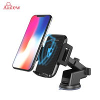 AUDEW Pre Sale Car Mobile Phone Holder Qi Wireless Fast Charger Retractable Suction Cup Holder Air Vent Dashboard for Iphone X