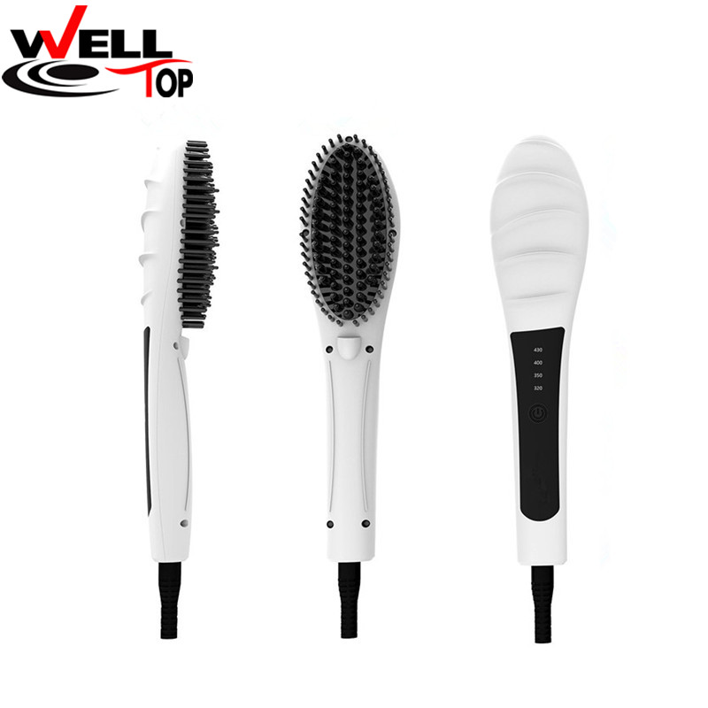 LCD Comb brush Hair Straightener Brush Detangling Straightening Irons Hair Massager Comb Hair Styling Tool professional ceramic electric hair straightener brush detangling hair straightening iron comb smooth brush styling tools