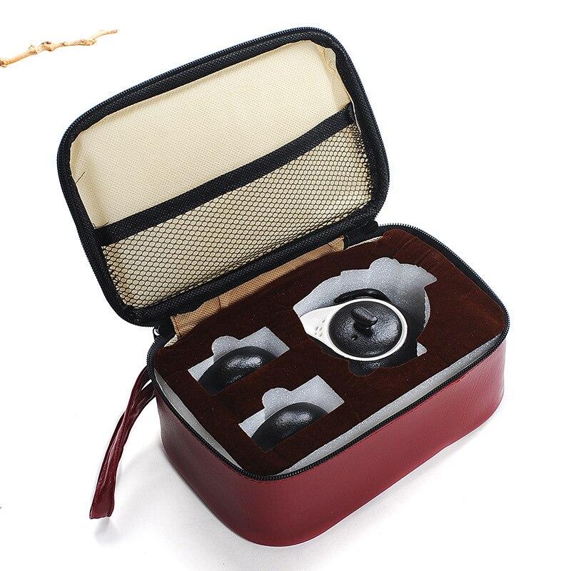 Chinese Travel Ceramic Portable Tea set Include 1 Pot 2 Cup,High quality elegant gaiwan,drinkware coffee kung fu tea sets