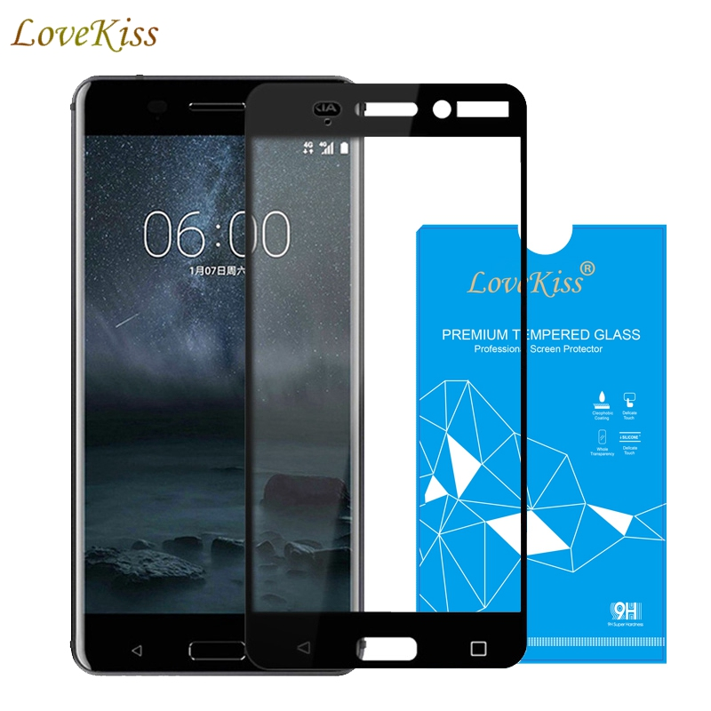 9H Tempered Glass For <font><b>Nokia</b></font> 6 3 5 TA-1024 Full Cover Screen Protector Glass Film For Nokia6 Nokia5 Nokia3 Protective Glass Film image