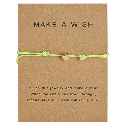 Браслет Wish Card, регулируемый, ручной, плетеный, женский, минималистичный, сердце, корона, круглая нить, Ehthic, браслет, Модные женские ювелирные изделия - Окраска металла: 25