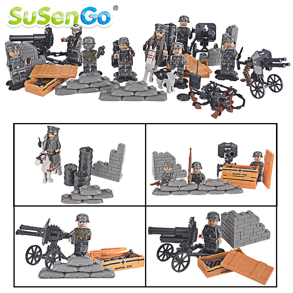 SuSenGo Soldier Figures Toy Model Desert Eagle Squadron Army Kids Building Blocks Military Toys Compatible with Lepin susengo pirate model toy pirate ship 857pcs building block large vessels figures kids children gift compatible with lepin