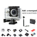 7 Colors SJ4000 mini Action Camera 1.5 inch Cam Recorder 720P HD Sport DV Sports Camera Camcorder Car DVR 2pcs battery+ Monopod