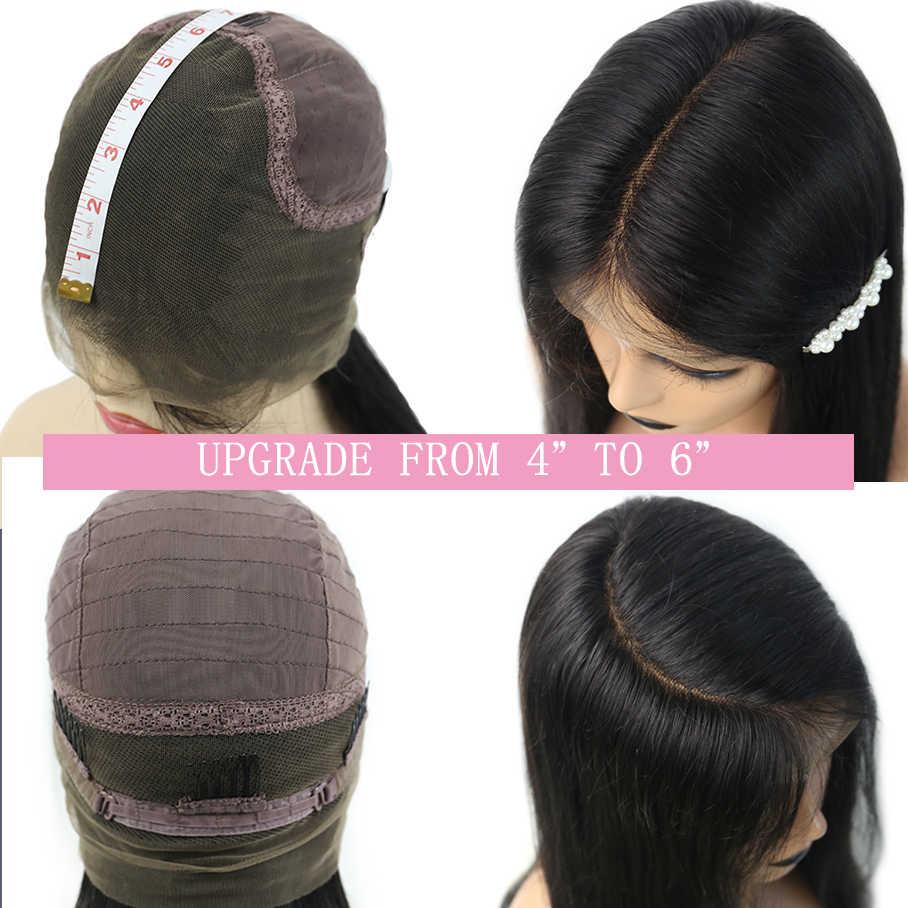 Onda de agua 360 peluca Frontal de encaje Pre desplumado con pelo de bebé brasileño Remy encaje frente rizado cabello humano Natural CARA negra