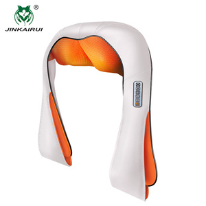 Image 4 - JinKaiRui U şekli masaj elektrik kızılötesi isıtma titreşimli Shiatsu yoğurma geri boyun omuz masaj vücut Massagem