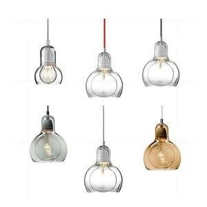 Image 4 - Современный Креативный простой подвесной светильник для столовой, магазина одежды, стеклянная Подвесная лампа в цветочек, E27, декоративная светильник ПА накаливания