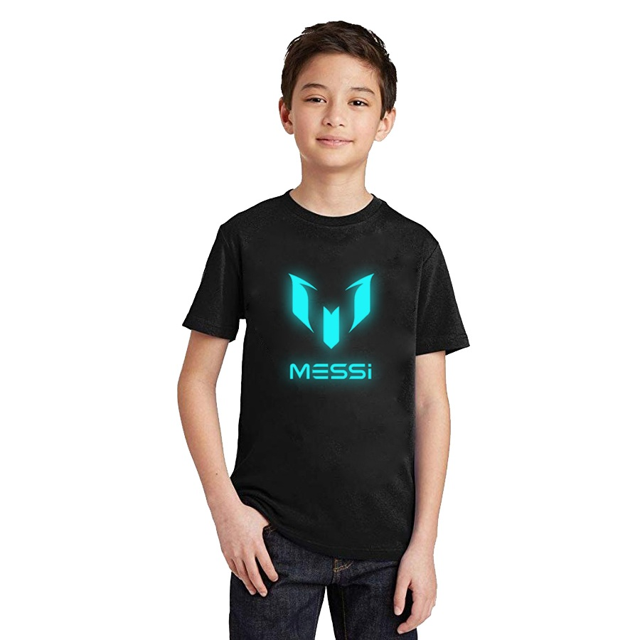 LYTLM T-Shirt Boy Messi Girls Tiny Kids Cottons Children Summer Short-Sleeve Sportwear